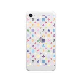 麻雀牌モノグラム Clear smartphone cases