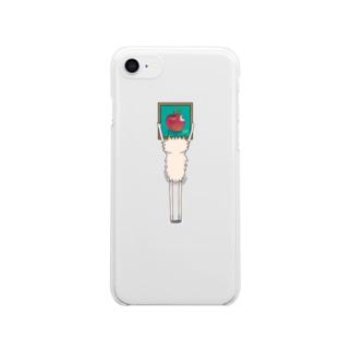 ポメ村さんとりんごの絵 Clear smartphone cases