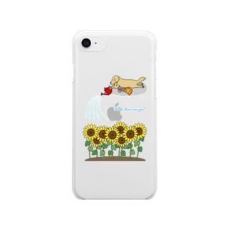 ひまわり Clear smartphone cases