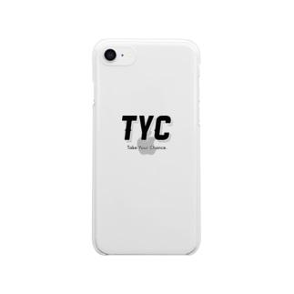 TYCスポーティーロゴ クリアスマートフォンケース