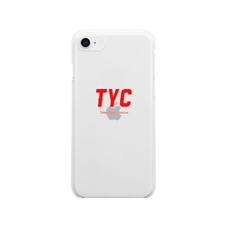 TYCスポーティーロゴ赤 Clear smartphone cases