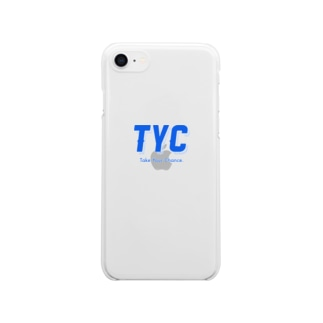 TYCスポーティーロゴ青 Clear smartphone cases