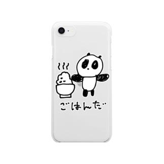 ごはんだ Clear smartphone cases