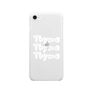 thyme(タイム) クリアスマートフォンケース Clear smartphone cases