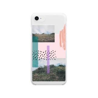 丘のてっぺん Clear smartphone cases