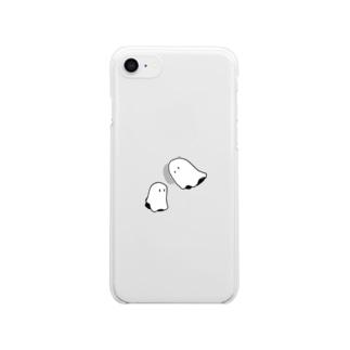 よりそうおばけ Clear smartphone cases