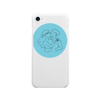 i love you. (blue) Clear smartphone cases