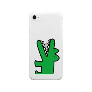 わにちゃん Clear smartphone cases