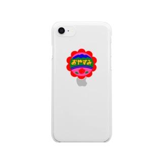 おやすみレッド Clear smartphone cases