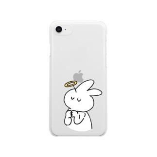 アーメンきくらげちゃん Clear smartphone cases