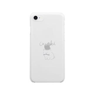 浮気グマ Clear smartphone cases