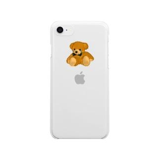 かなしみくまさん Clear smartphone cases
