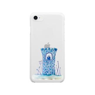 砂上の楼閣 Clear smartphone cases