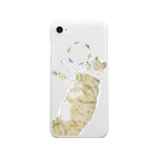 ねことさかな「iPhone7/8/X/Xs用」 Clear smartphone cases