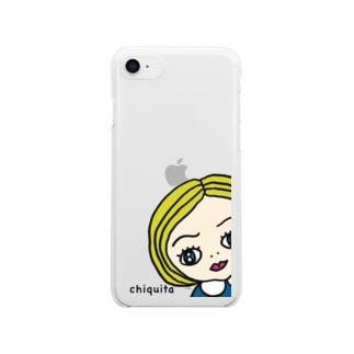 チキータちゃん Clear smartphone cases