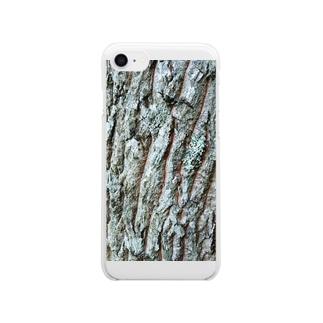 クヌギ樹皮 Clear smartphone cases