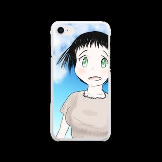 げーむやかんのファンタジー調で描いた村娘 Clear smartphone cases