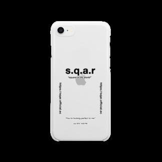 s.q.a.r のs.q.a.r × square クリアスマートフォンケース