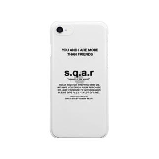 s.q.a.r THANKS sticker クリアスマートフォンケース
