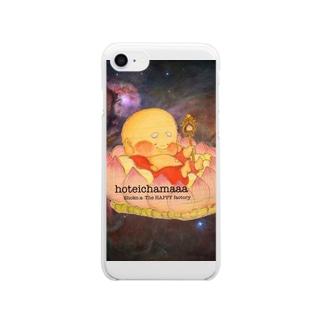 布袋ちゃま Clear smartphone cases