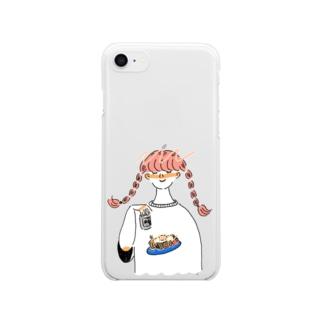 焼きそばガール Clear smartphone cases