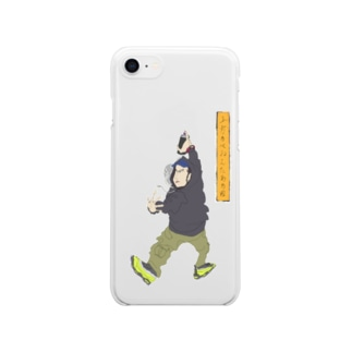 ukiyo-e painter KAMIGATA Clear smartphone cases