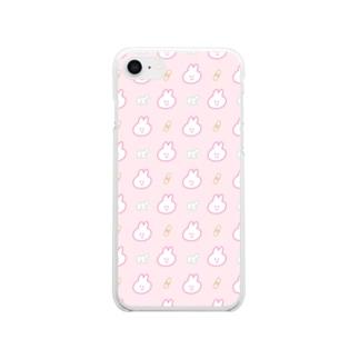 ユメカワ! ぽんぽんぷぅ Clear smartphone cases