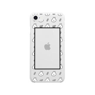 推しをはさめる!ぽんぽんぷぅ Clear smartphone cases