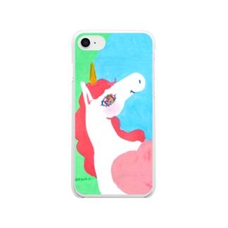 爽やかunicorn No.3 Clear smartphone cases