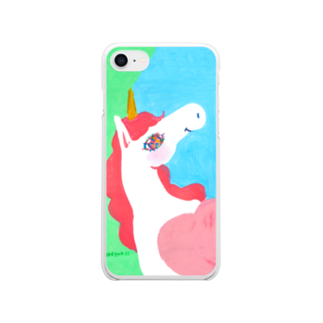 橋本京子の爽やかunicorn No.3 Clear smartphone cases