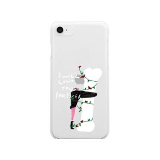永遠に好きな人 Clear smartphone cases