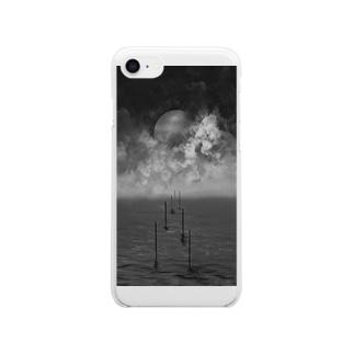 鬱の海と空と惑星 Clear smartphone cases