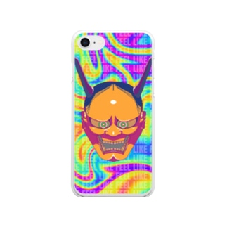 HANNYA~般若~ 山吹 Clear smartphone cases