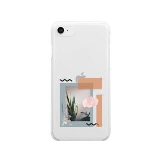癒しの観葉植物 Clear smartphone cases