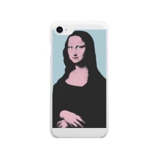 モナ・リザ・ポップ Clear smartphone cases