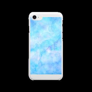 あとりえ あおきゃたつのぽつりぽつり Clear smartphone cases