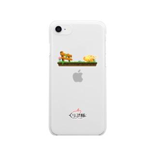 くりぷ豚 Clear smartphone cases