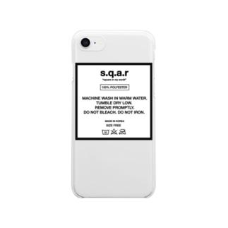 s.q.a.r care label クリアスマートフォンケース