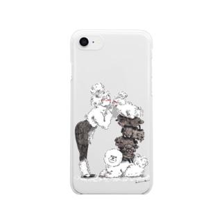 もふもふ Clear smartphone cases
