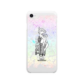 ヘギの【クリアスマホケース】No.23 トラベラーちゃん Clear smartphone cases