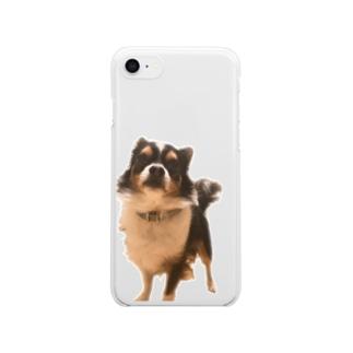 クッキーちゃんは少し自慢げ Clear smartphone cases