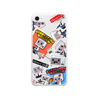 ステッカーボムケース Clear smartphone cases
