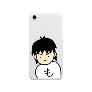 もへお みつめる Clear smartphone cases