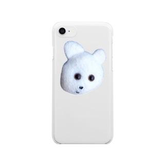 くまきちフェイス Clear smartphone cases