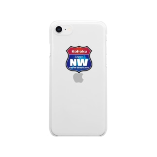 NWロードサイン Clear smartphone cases