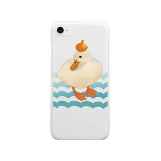 鏡もちもちアヒルちゃん Clear smartphone cases
