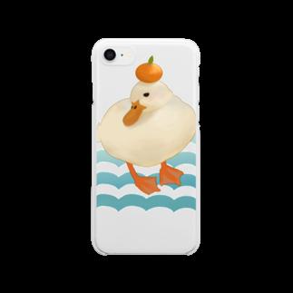 ヤマノナガメの鏡もちもちアヒルちゃん Clear smartphone cases