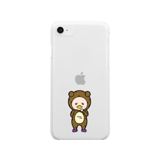 うわさの妖精ネガポジちゃん Clear smartphone cases