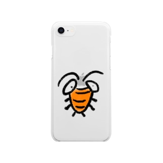 ごきぶりたろうくん Clear smartphone cases