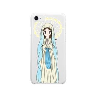 祈る女の子 Clear smartphone cases
